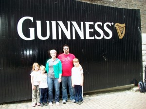 The author and his family at St James' Gate, Dublin in June 2010.