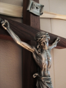 Crucifix, St. Hilaire household, 21st century