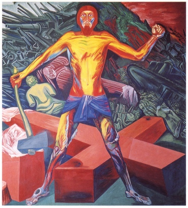 Christ Destroys His Cross - Jose Clemente Orozco