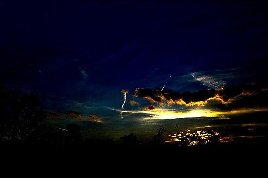 bright sun dark sky